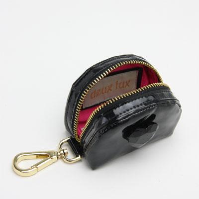 deux lux デュラックス Happy Heart ハーフムーンポーチ DL309-22 ブラック