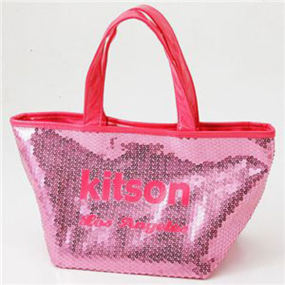 kitson キットソン SEQUIN MINI TOTE スパンコール ミニトートバッグ ピンク/ピンク 3553