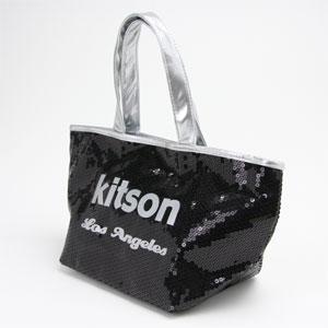 kitson キットソン SEQUIN MINI TOTE スパンコール ミニトートバッグ ブラック/シルバー 003564